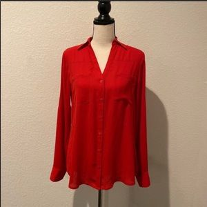 Express The Portofino Shirt in Red Size Small